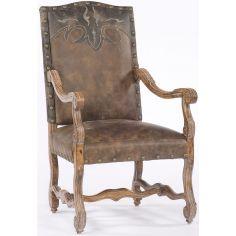 Leather nail trim Chair