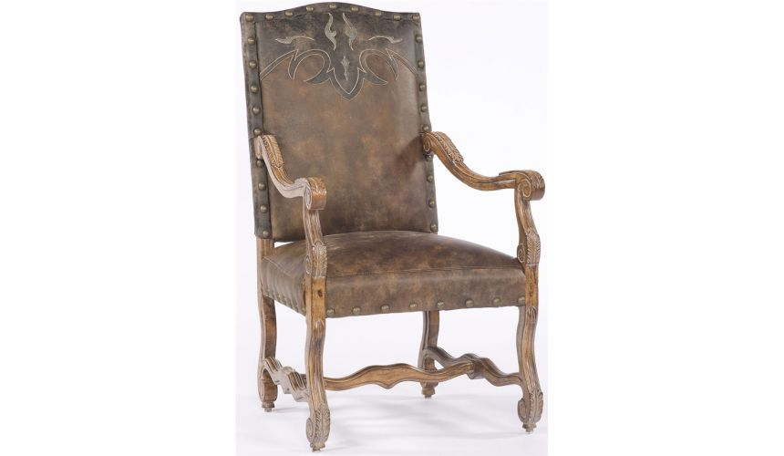Dining Chairs Leather nail trim Chair