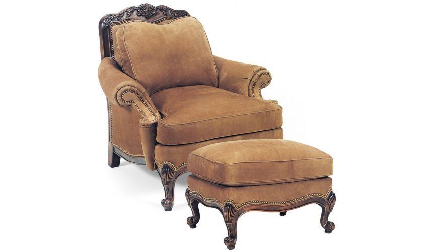 1486/1485 Renoir Chair & Ottoman
