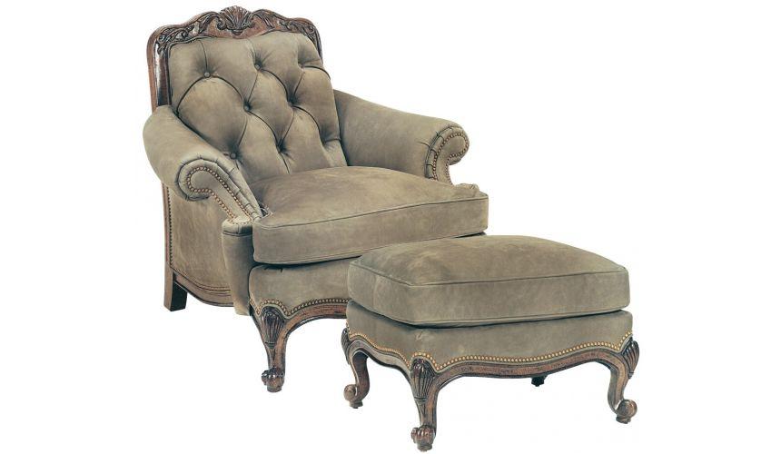 1520/1519 Renoir Tufted Chair & Ottoman