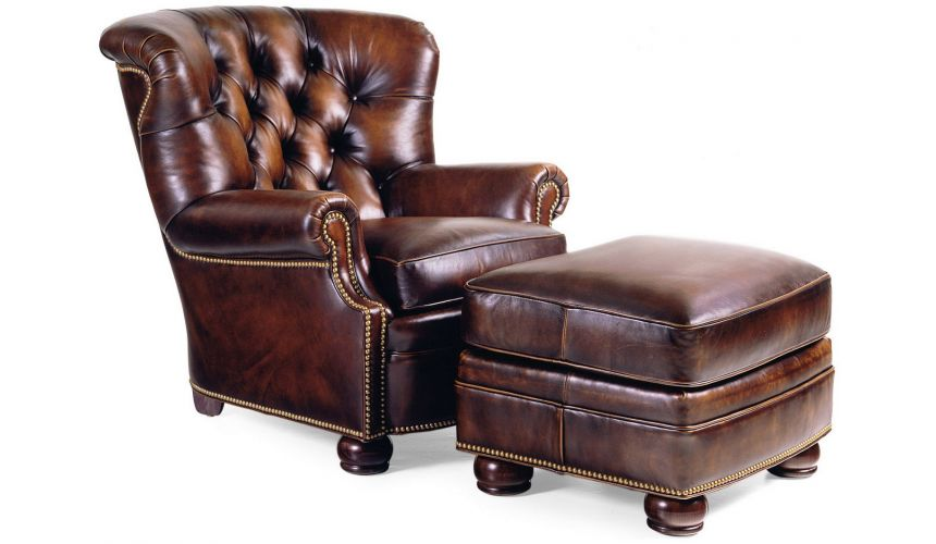 1786/1785 Wallace Tufted Chair & Ottoman