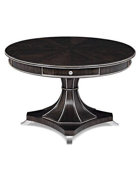 Foyer and Center Tables Ebonized Avodire Conversation Table Different 2