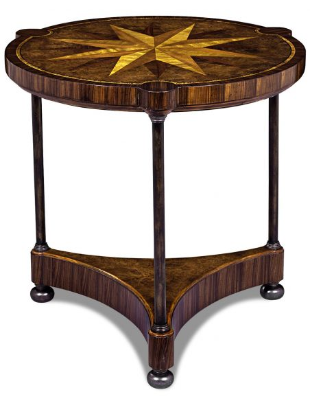 Round & Oval Side Tables Ebonized Avodire Conversation Table
