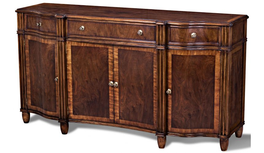 Breakfronts & China Cabinets European Swirl Sideboard Table
