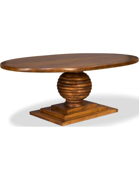 Dining Tables Wooden Oval Top Dining Table