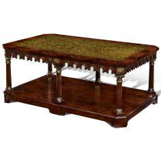 Crotch Mahogany Cocktail Table