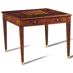 Crotch Mahogany Game Table Chess Board
