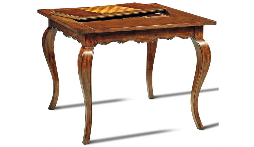 Game Card Tables & Game Chairs Hand Planed Heavily Distressed Game Table Board