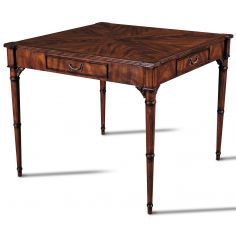 Crotch Mahogany Card Table