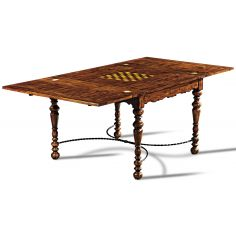 Hand Planed Heavily Distressed Game Table