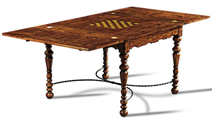 Game Card Tables & Game Chairs Hand Planed Heavily Distressed Game Table