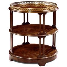 Crotch Mahogany 3 Tier Table