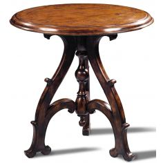 Hand Planed Heavily Distressed Side Pedestal Table