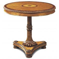 Birdseye Occasional Table Rosewood Banding