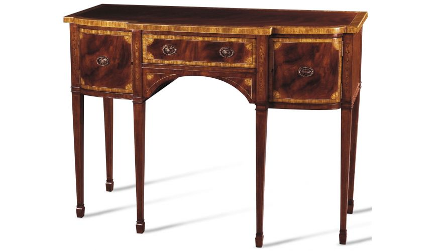 Breakfronts & China Cabinets Crotch Mahogany Movingue Sideboard
