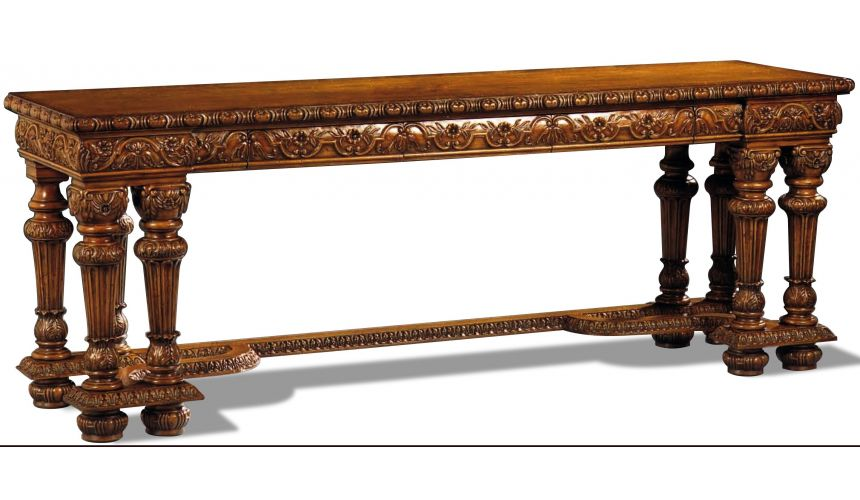 Console & Sofa Tables Beautifully Carved Walnut Console Table