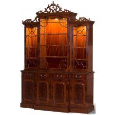 Empire Style Mahogany Breakfront Bookcase