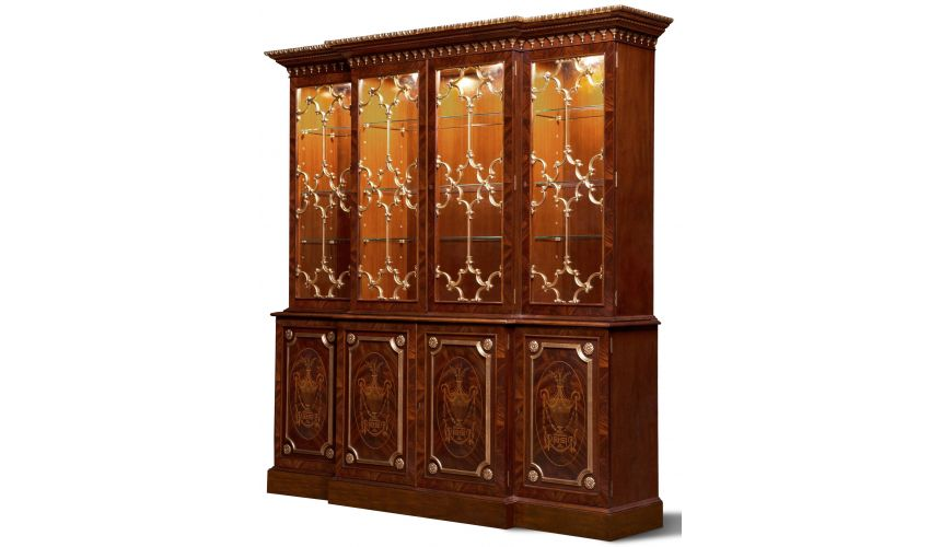 Breakfronts & China Cabinets Impressive Empire Display Cabinet