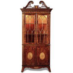Crotch Mahogany Rosewood Corner Cabinet