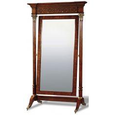 Crotch Mahogany Standing Mirror
