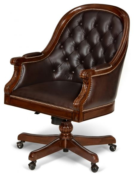 Office Chairs Mahogany Swivel Desk Chair