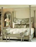 Stunning  light color four poster bed