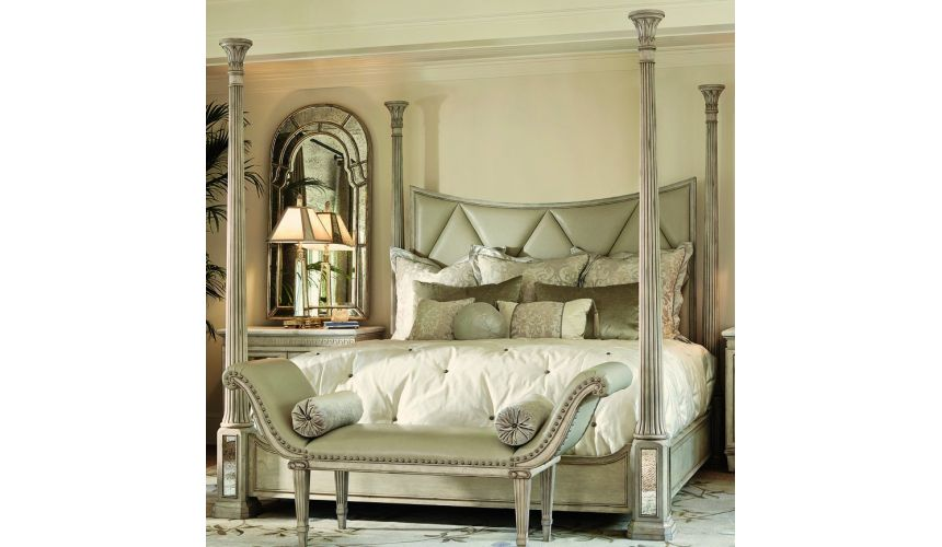 BEDS - Queen, King & California King Sizes Stunning light color four poster bed