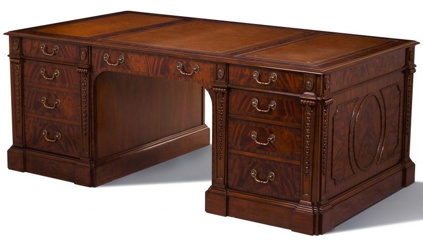 Executive Desks Crotch Mahogany Rosewood Banding Desk
