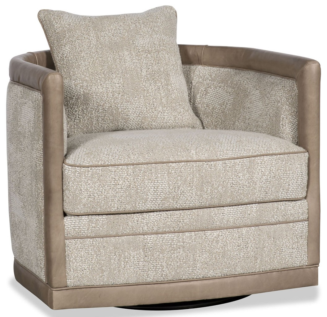 Delightful MOTION SEATING   Recliners, Swivels, Rockers Beige Barrel Style Swivel Chair