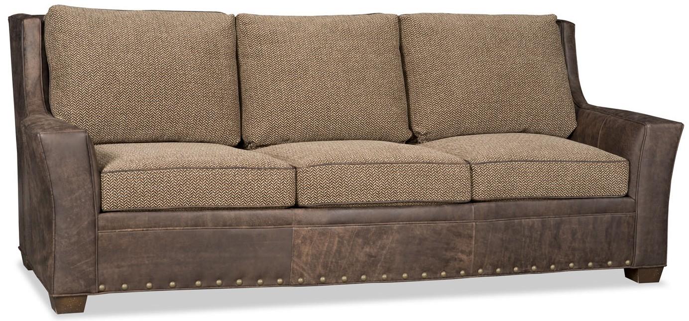 SOFA, COUCH U0026 LOVESEAT Leather And Herringbone Sofa