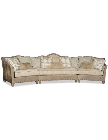 Luxury Leather & Upholstered Furniture Aw-sum modern western style sectional sofa
