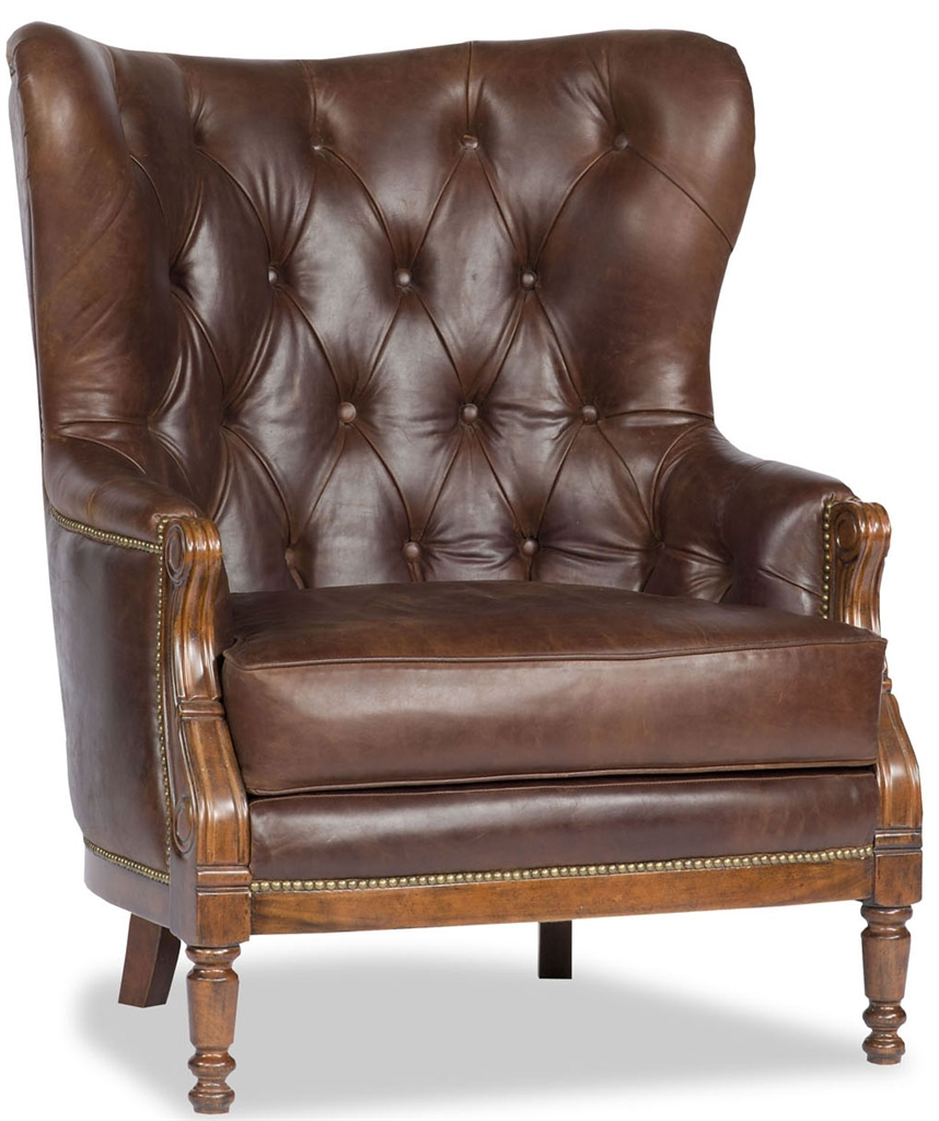 Luxury Leather U0026 Upholstered Furniture Brown Leather Tufted Library Chair
