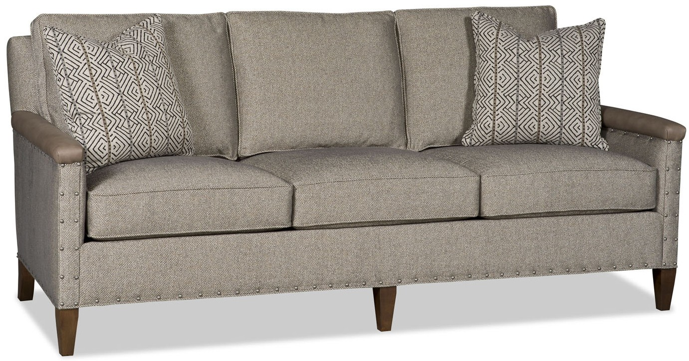 Grey tweed contemporary sofa for Leather and tweed sofa