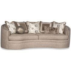 Elegant sofa with rounded arms