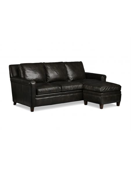 SOFA, COUCH & LOVESEAT Leather Milstead Sofa & Ottoman