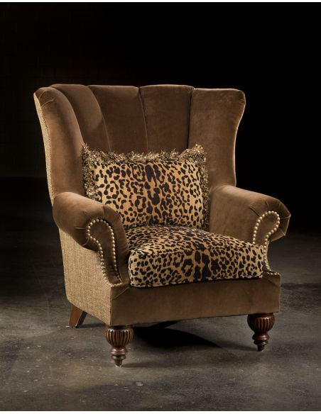 Luxury Leather & Upholstered Furniture Leopard Furniture, High Quality Upholstered Chair