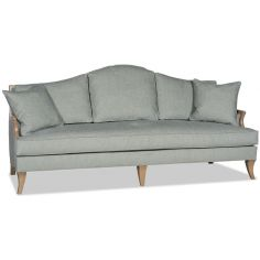 Dove grey sofa curved back