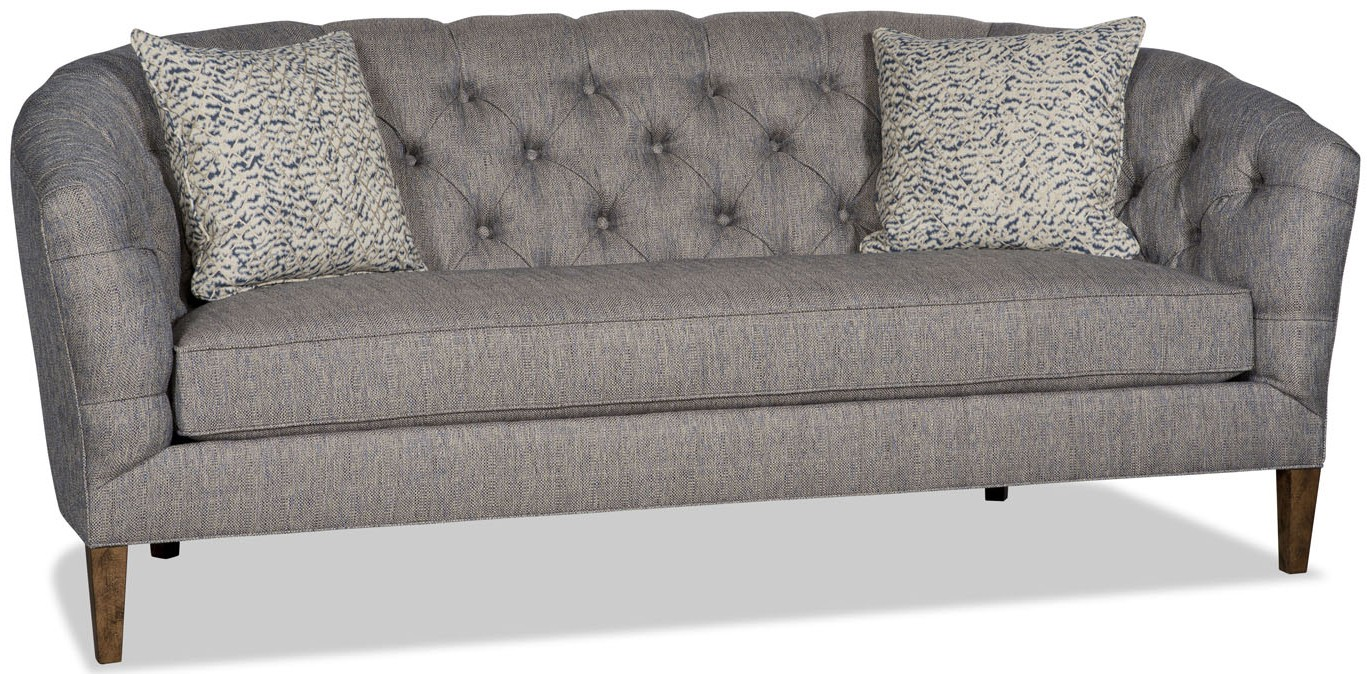 Retro steel grey tufted sofa Retro loveseats