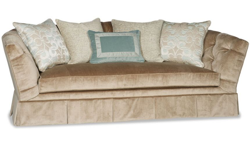 SOFA, COUCH & LOVESEAT Sofa covered in a luxurious cream colored fabric