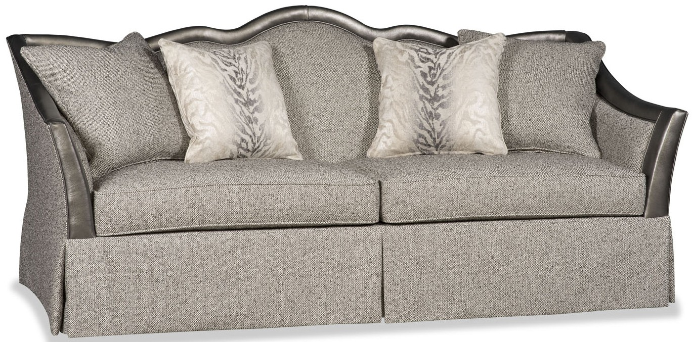 SOFA, COUCH & LOVESEAT Textured Slate Grey Sofa With Curved Back