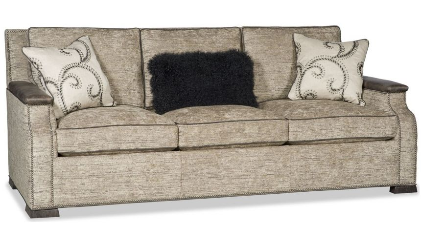 SOFA, COUCH & LOVESEAT Sofa covered in a textured oatmeal fabric