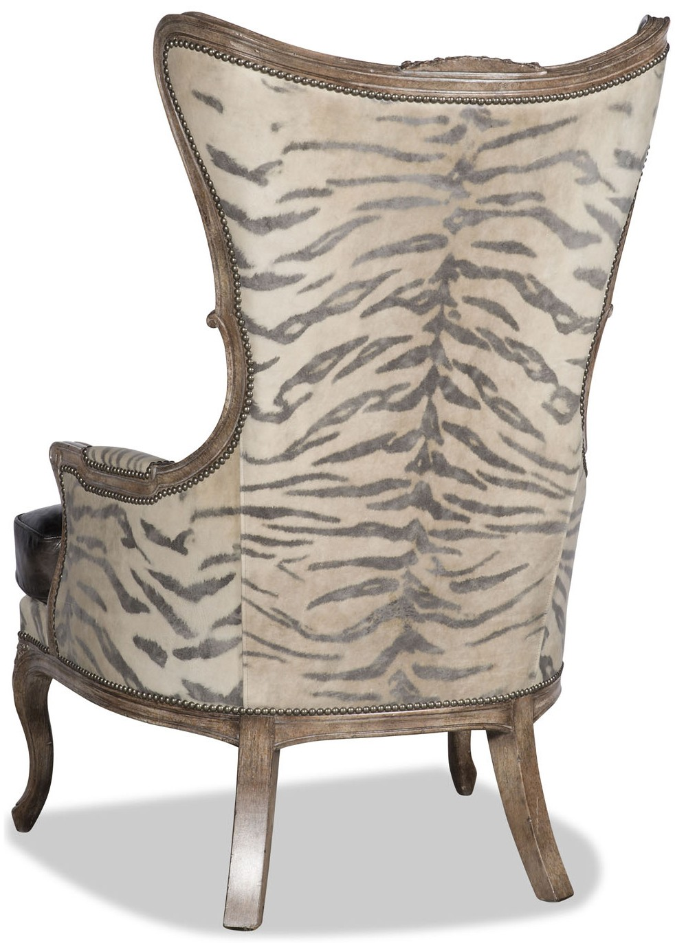 CHAIRS   Leather, Upholstered, Accent Leather And Animal Print Armchair