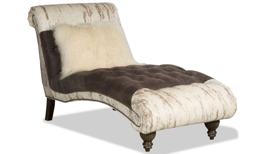 SETTEES, CHAISE, BENCHES Animal print chaise