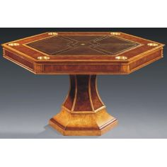 Luxurious Home Accents Hexagonal Game Table