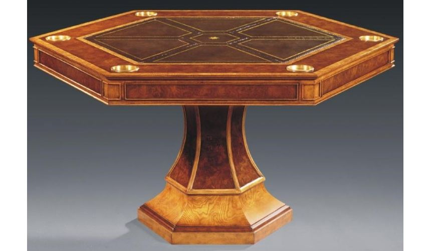 Game Card Tables & Game Chairs Luxurious Home Accents Hexagonal Game Table