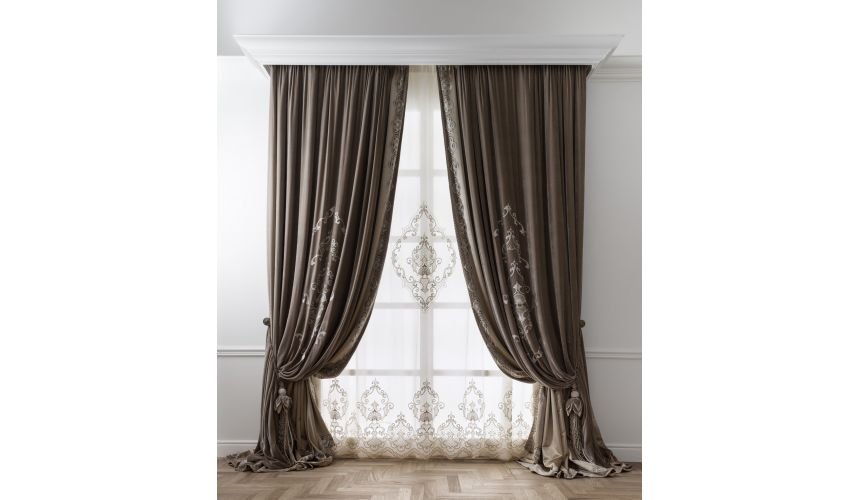 Custom Window Treatments Hand made draperies from our Masterpiece Collection. 42
