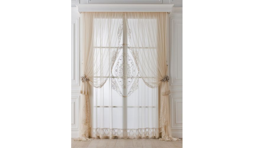 Custom Window Treatments Hand made draperies from our Masterpiece Collection. 50