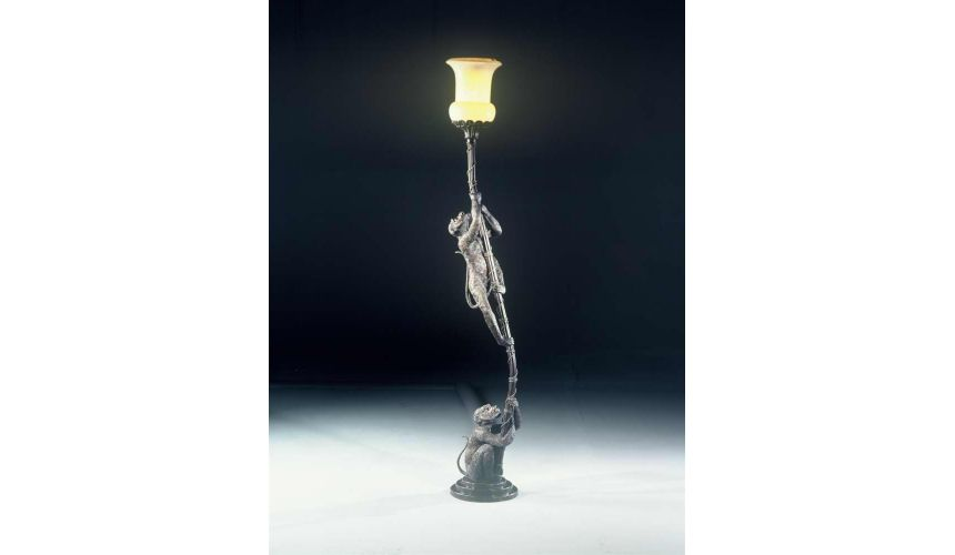 Lighting luxury furniture bronze eclectic floor lamp