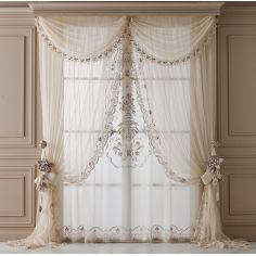 Hand made draperies from our Masterpiece Collection. 65