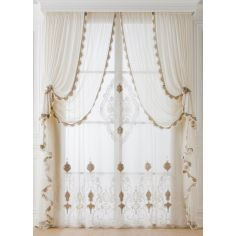 Hand made draperies from our Masterpiece Collection. 71